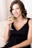 Πίνοντας κρασί Στοκ εικόνα με δικαίωμα ελεύθερης χρήσης