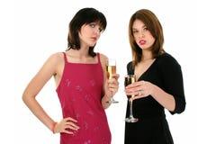 πίνοντας κυρίες σαμπάνιας Στοκ Εικόνα