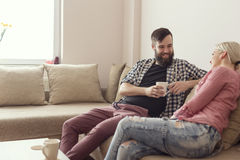 Πίνοντας τον καφέ από κοινού Στοκ εικόνα με δικαίωμα ελεύθερης χρήσης