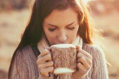 πίνοντας τσάι Στοκ φωτογραφίες με δικαίωμα ελεύθερης χρήσης