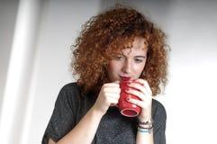 πίνοντας τσάι Στοκ Φωτογραφίες
