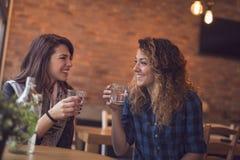 Πίνοντας detox νερό Στοκ φωτογραφία με δικαίωμα ελεύθερης χρήσης