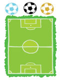 πίσσα και ποδόσφαιρο ποδοσφαίρου Στοκ Εικόνες