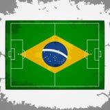 Πίσσα ποδοσφαίρου της Βραζιλίας grunge απεικόνιση αποθεμάτων