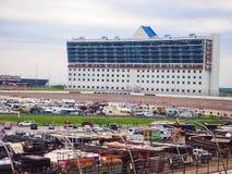 Πίστα αγώνων Fort Worth TX μηχανών του Τέξας Στοκ Φωτογραφίες