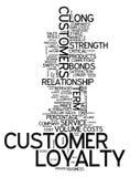 Πίστη πελατών σύννεφων λέξης απεικόνιση αποθεμάτων