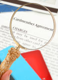 πίστωση καρτών συμφωνίας Στοκ Φωτογραφία