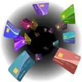 πίστωση καρτών Στοκ εικόνα με δικαίωμα ελεύθερης χρήσης