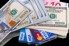 πίστωση μετρητών καρτών Στοκ Φωτογραφίες