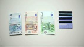 πίστωση μετρητών καρτών απόθεμα βίντεο