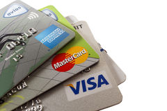 πίστωση s καρτών Στοκ φωτογραφίες με δικαίωμα ελεύθερης χρήσης