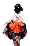 Πίσω άποψη μιας παραδοσιακής ιαπωνικής κούκλας Στοκ Εικόνα