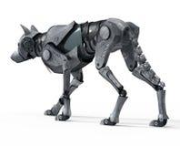 Πίσω άποψη ρομπότ λύκων περπατήματος Ελεύθερη απεικόνιση δικαιώματος