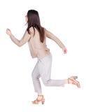 Πίσω άποψη της τρέχοντας γυναίκας Στοκ εικόνες με δικαίωμα ελεύθερης χρήσης