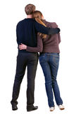 Πίσω άποψη του νέου ζεύγους (άνδρας και γυναίκα) στοκ φωτογραφία με δικαίωμα ελεύθερης χρήσης