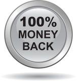 Πίσω αγκίδα εικονιδίων Ιστού κουμπιών χρημάτων στοκ φωτογραφία