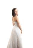 πίσω απομονωμένες φόρεμα womand  Στοκ εικόνα με δικαίωμα ελεύθερης χρήσης
