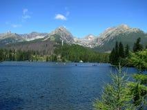 πίσω από τα υψηλά tatras της Σλοβακίας pleso λιμνών strbske Στοκ Εικόνες