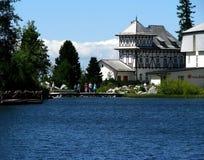 πίσω από τα υψηλά tatras της Σλοβακίας pleso λιμνών strbske Στοκ Εικόνα