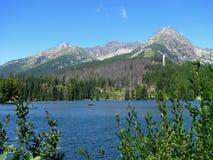 πίσω από τα υψηλά tatras της Σλοβακίας pleso λιμνών strbske Στοκ εικόνα με δικαίωμα ελεύθερης χρήσης