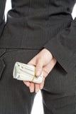 πίσω από τα χρήματα Στοκ εικόνα με δικαίωμα ελεύθερης χρήσης