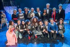 Πίσω από τις σκηνές του φωνητικού ανταγωνισμού Tyumen Στοκ Εικόνες