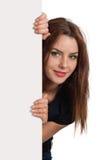 πίσω από το θηλυκό σημάδι κρυφοκοιτάγματος Στοκ εικόνες με δικαίωμα ελεύθερης χρήσης
