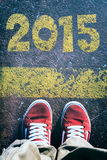 Πίσω από το νέο έτος Στοκ φωτογραφία με δικαίωμα ελεύθερης χρήσης