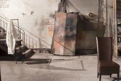 Πίσω από το σκηνή-εσωτερικό ένα δωμάτιο θεάτρων Στοκ εικόνα με δικαίωμα ελεύθερης χρήσης