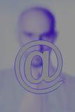 πίσω από το σκιερό σημάδι αριθμού Στοκ εικόνες με δικαίωμα ελεύθερης χρήσης