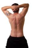 πίσω αρσενικό λευκό τεντωμάτων Στοκ εικόνα με δικαίωμα ελεύθερης χρήσης