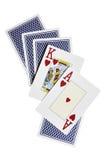 πίσω βασιλιάς καρτών άσσων Στοκ Εικόνες