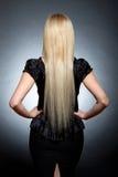πίσω γυναίκα μόδας ομορφιά Στοκ Φωτογραφία