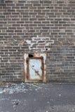 Πίσω είσοδος εκκλησιών στοκ φωτογραφίες