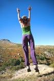 Πίσω θηλυκό άλμα Στοκ εικόνα με δικαίωμα ελεύθερης χρήσης