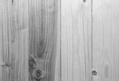 Πίσω και άσπρο ξύλινο υπόβαθρο σύστασης τοίχων σανίδων Στοκ Φωτογραφία