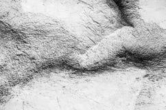 πίσω και άσπρο σύσταση ή υπόβαθρο πετρών Στοκ Φωτογραφία