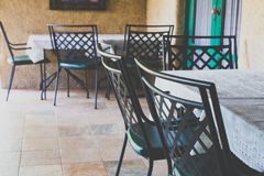Πίσω καρέκλες χάλυβα Στοκ Φωτογραφίες