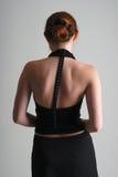 πίσω μαύρη στάση κοριτσιών Στοκ Εικόνες