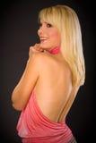 πίσω μαύρισμα blondie στοκ φωτογραφία
