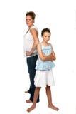 πίσω μητέρα κορών Στοκ εικόνα με δικαίωμα ελεύθερης χρήσης