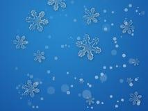 πίσω μπλε νιφάδα Στοκ Φωτογραφία