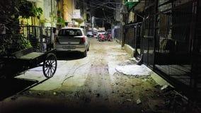 Πίσω νότιο Δελχί Malviya Nagar χ-φραγμών οδών Στοκ Φωτογραφία