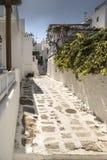 Πίσω οδός Μύκονος Ελλάδα Στοκ Φωτογραφίες
