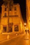 Πίσω οδοί και πάροδοι τη νύχτα Μονπελιέ Γαλλία αστική & archi Στοκ φωτογραφίες με δικαίωμα ελεύθερης χρήσης