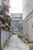 Πίσω οδός σε Chengdu, Κίνα Στοκ Εικόνες