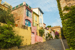Πίσω οδός Collioure στοκ φωτογραφία