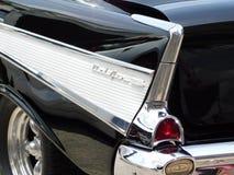 Πίσω πτερύγιο ενός μαύρου Chevy Bel Air Στοκ Εικόνες