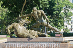 Πίσω πλευρά Theseus και Minotaur στην αναμνηστική πηγή Archibald Στοκ Εικόνα