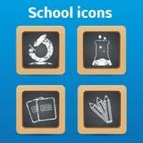 Πίσω στα αντικείμενα eps 10 σχολικού θέματος Στοκ Εικόνες